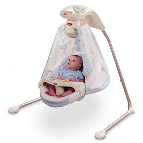 fisher price plug in swing starlight cradle baby swing enables your baby to c