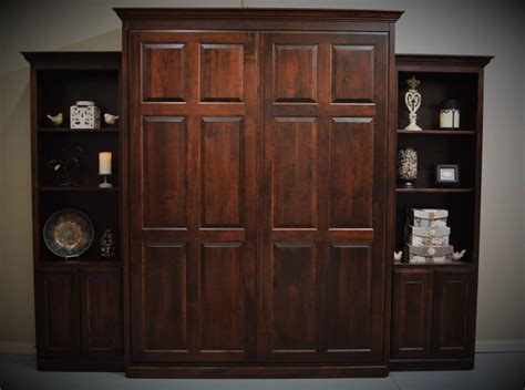 queen murphy bed cabinet custom built queen murphy bed with 24 quot cabinets ebay