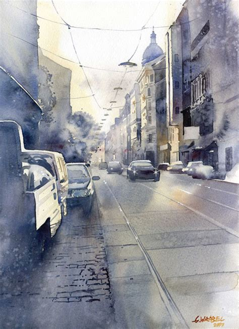 Watercolor Tutorial City | must see urban watercolor paintings from different artists