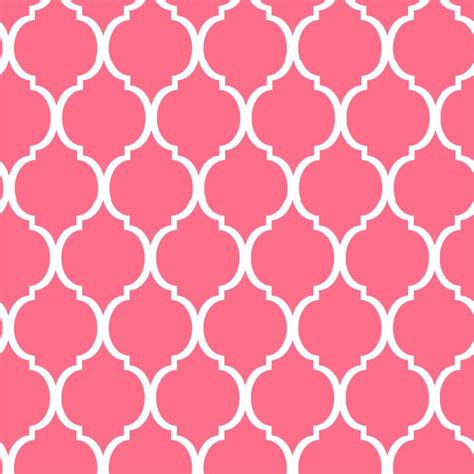 Cute Pattern Tile | pink wallpaper cute for girls bath with white tile