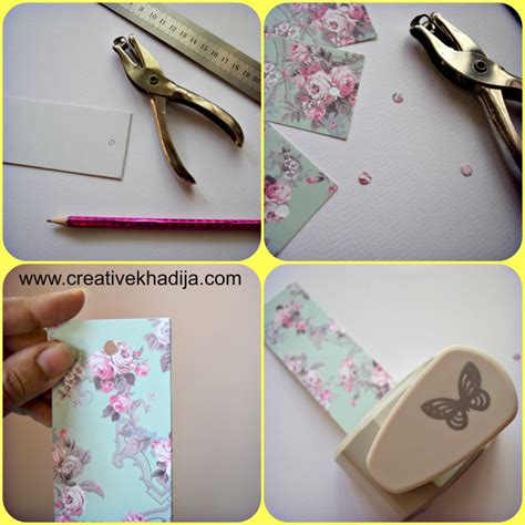 Easy Handmade Bookmarks - how to make bookmarks with butterfly paper punch