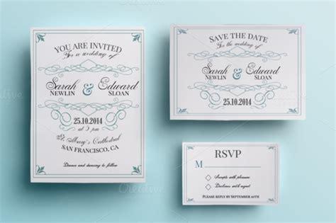 Wedding Invitation Packs by Vintage Wedding Invitation Pack Invitation Templates On