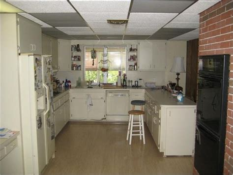 replace drop ceiling drop ceiling in kitchen replace it or update it