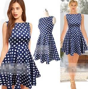 new 2014 dot casual dresses women polka dot one piece