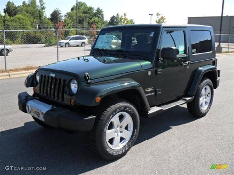 dark green jeep wrangler 2010 natural green pearl jeep wrangler sahara 4x4