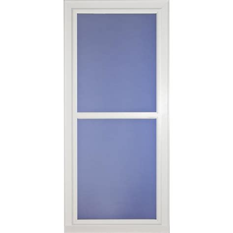 Screen Door Glass Shop Larson Tradewinds Selection White View Aluminum