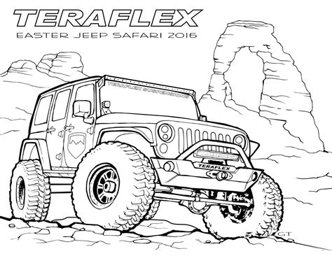 jeep wrangler front drawing gallery teraflex jeep coloring pages teraflex