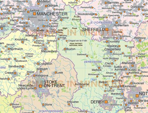 map of central uk central county map 1 000 000 scale plus a strong