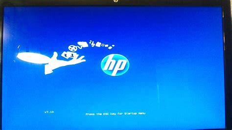 resetting hp laptop stuck at 99 press the esc key for startup menu freezes on hp h8 1260t