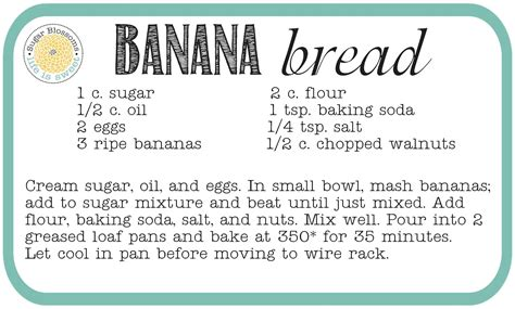 Printable Bread Recipes | sugar blossoms the only banana bread recipe you ll ever need
