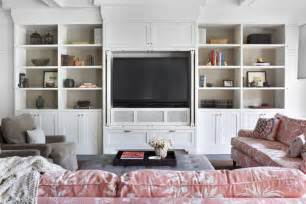Ikea Billy Bookcase Built In Look Tv Built Ins Transitional Living Room Burnham Design