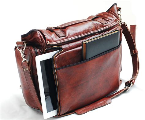 Handmade Leather Shoulder Bag - handmade leather messenger bag handmade 22 inch leather