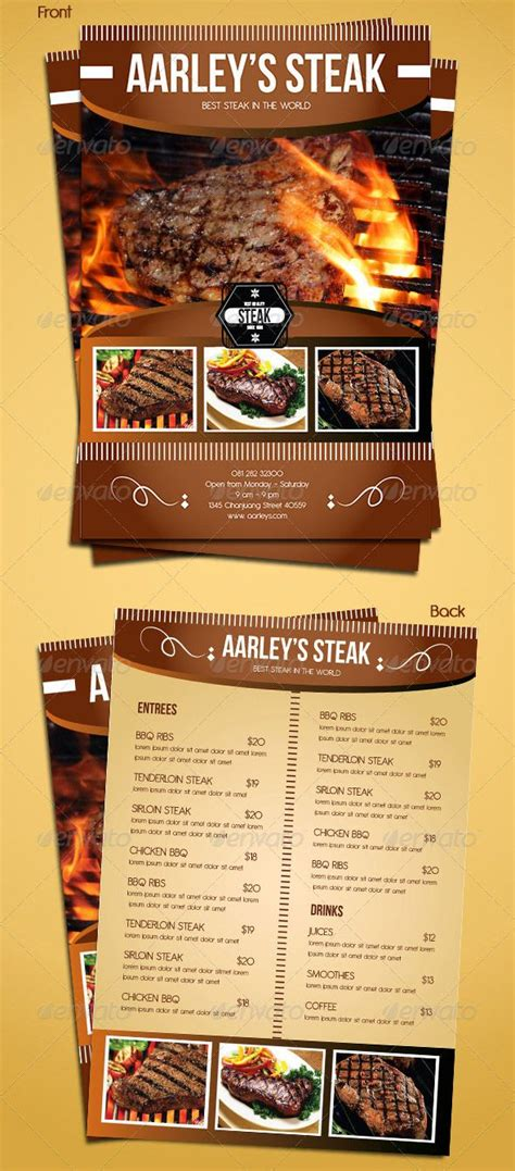 menu poster template 20 best images about flyers on restaurant