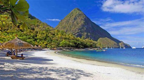 sugar beach resort  saint lucia caribbean mountain gros