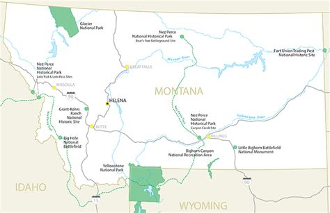 montana national parks map national parks in montana map images