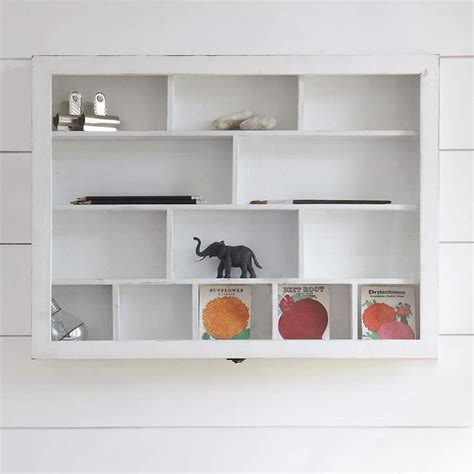 this versatile 13 compartment shabby chic wooden shelf