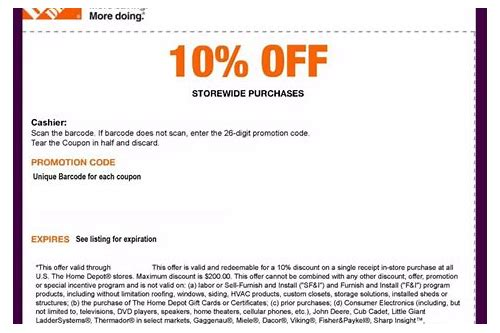 10 off coupon home depot in store
