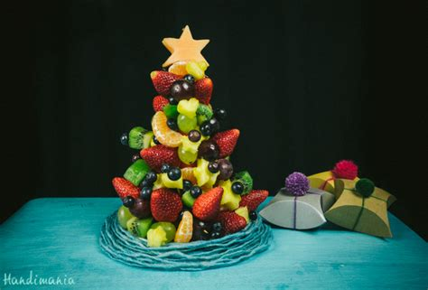 how to make fruit christmas tree cooking handimania