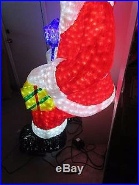 large lighted led sitting santa claus commercial grade