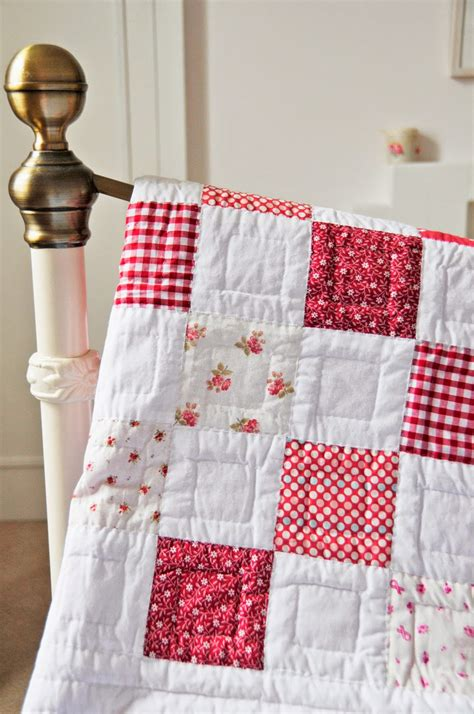 Cottage Patchwork - cottage style interior sweet quilt with simple yet