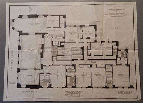 clarence house floor plan floorplan of frances glessner lee s apartment at 1448 lake