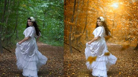 autumn color effect photoshop tutorial soft light