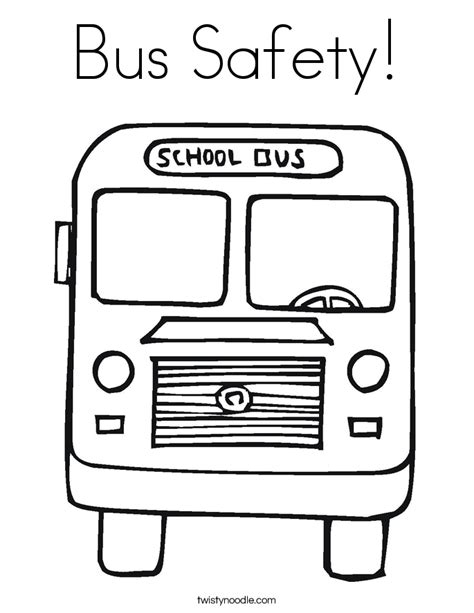 bus safety coloring page twisty noodle