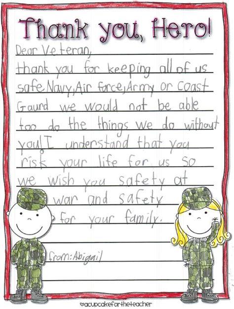 thank you letter to 3rd grade local students send letters to post 3063 veterans