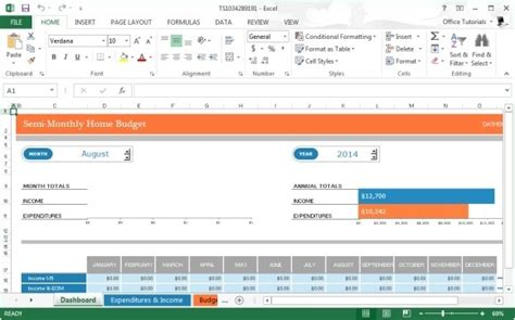 budget template monthly home budget template for microsoft excel 2013