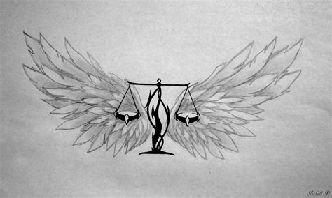 tribal libra scales tattoo winged libra scales design ideas