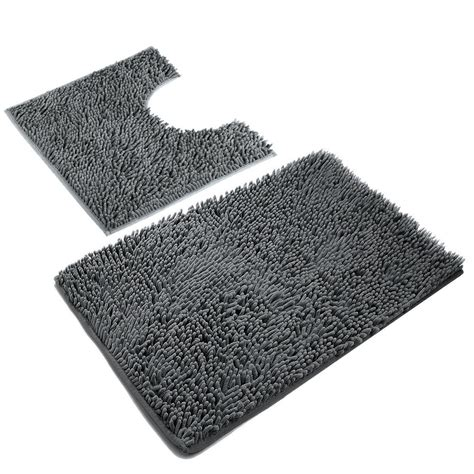 vdomus non slip microfiber shag bath mat bathroom mats amazon com vdomus absorbent microfiber bath mat soft