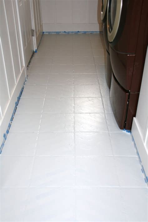 paint bathroom tile floor how to paint tile floors a tutorial stitched