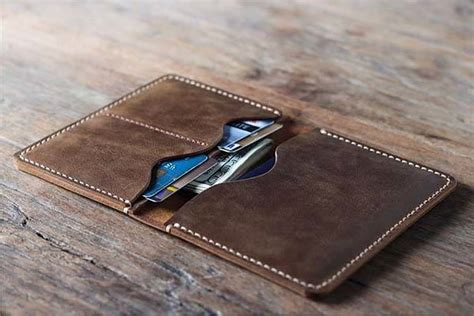 Handcrafted Leather Wallet - joojoobs handmade customizable leather passport wallet