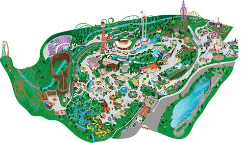 six flags texas park map park map guide to six flags texas