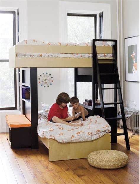 argington bunk bed argington uffizi bunk bed with bench modern bunk beds