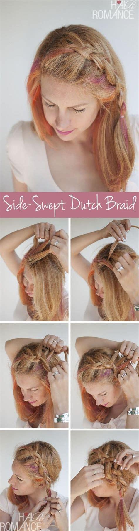 side braid bangs step by step side swept braid hair you won t miss hair tutorials