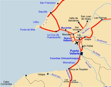 san francisco mexico map vallarta and surrounding areas vallarta rentals