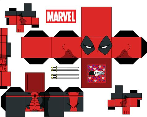 Ultimate Papercraft 3d - deadpool by guitar6god on deviantart