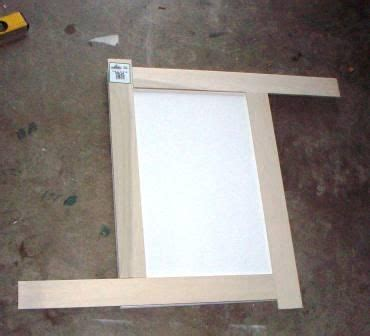 How To Make Kitchen Cabinet Doors Cabinet Door Refinish Adding Trim Shaker Style Do It Yourself And Diy And Crafts