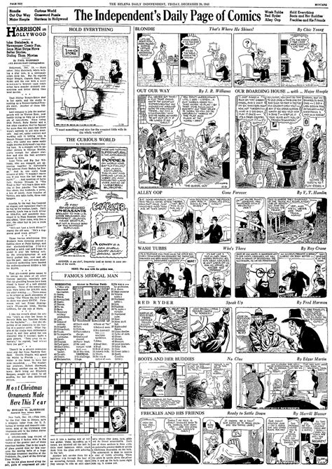 comic section in newspaper potrzebie death of newspapers 25 evolution of the daily