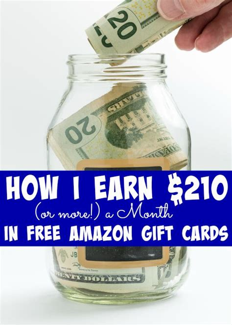 Websites To Earn Free Amazon Gift Cards - how i earn 210 or more a month in free amazon gift cards
