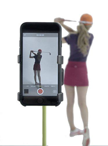 swing mobile phone record golf swing cell phone clip holder and training