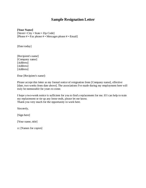 two weeks notice how to write a two weeks notice letter