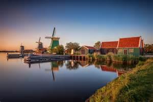 Hd Interior Fondo De Pantalla Village Zaanse Schans Netherlands Sunset