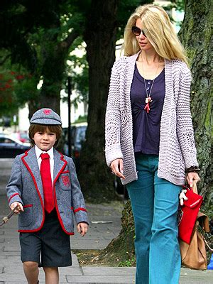 romeo beckham school london wetherby claudia schiffer and her man in uniform moms babies