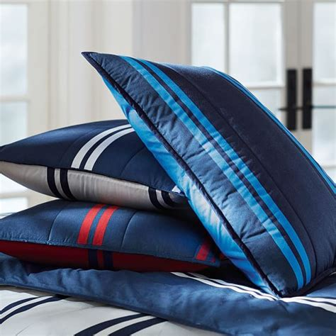 red and blue striped comforter riverside stripe comforter sham navy red pbteen