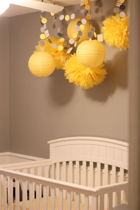 Yellow And Grey Decorations by Yellow And Gray Baby Shower Pear Tree