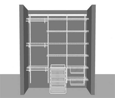 adjustable closet layout 5 1 83m 6 wide mud room
