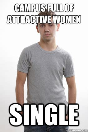 Single Guy Meme - cus full of attractive women single average college