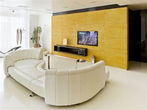 stairs yellow sofa living space glass walls modern 10 inspirational modern minimalist lounge designs
